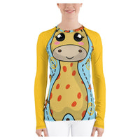 Wall of Giraffes Rash Guard, Rashguard- WhimzyTees