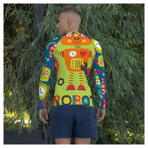 Sydney Robot Rash Guard, Rashguard- WhimzyTees