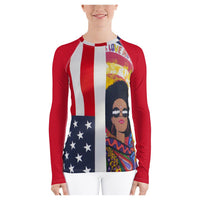 American Woman Rash Guard - WhimzyTees