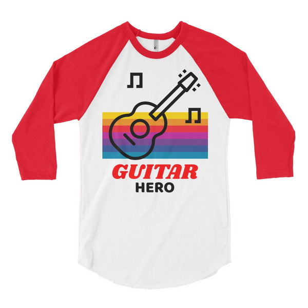 Guitar Hero Baseball Tee, Baseball Tee- WhimzyTees