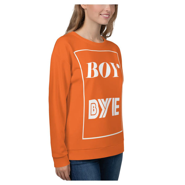 Boy BYE Sweatshirt (Orange), Sweatshirt- WhimzyTees