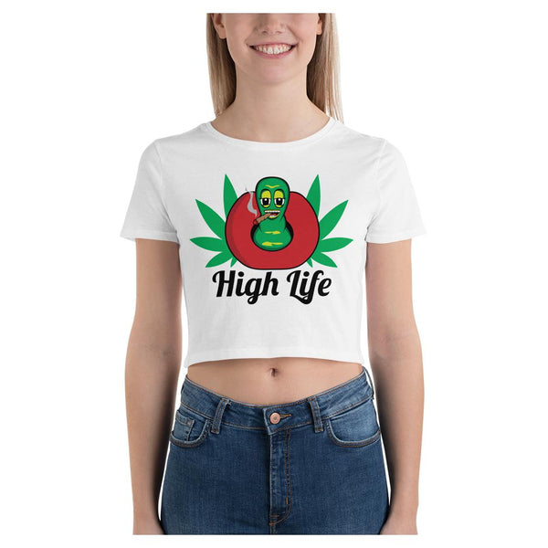 Apple HighLife Crop Tee, Crop Top- WhimzyTees
