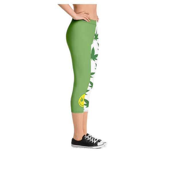 Magic Jah Mushroom Capris, Leggings- WhimzyTees