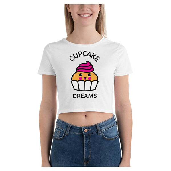 Cupcake Dreams Crop Tee, Crop Top- WhimzyTees