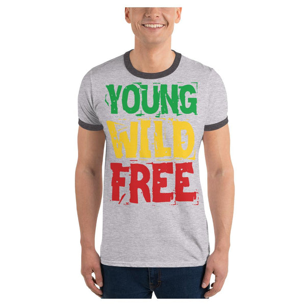 Young Wild Free Ringer Tee, Tee- WhimzyTees