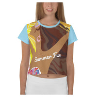 Summer Bedlam AOP Crop Top, Crop Top- WhimzyTees
