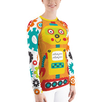 Simeon Robot Rash Guard, Rashguard- WhimzyTees