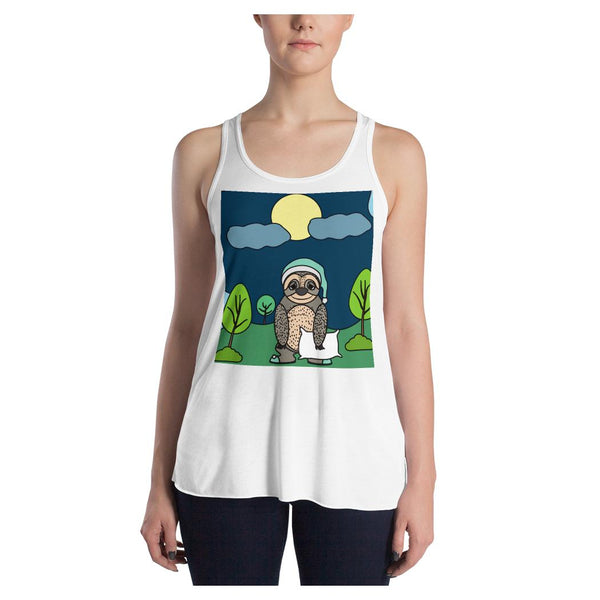 Bedtime Sloth Racerback Tank - WhimzyTees
