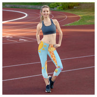 Flowering Giraffe Capris, Capris- WhimzyTees