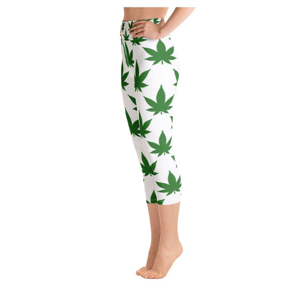 Green Bear Yoga Capris - WhimzyTees