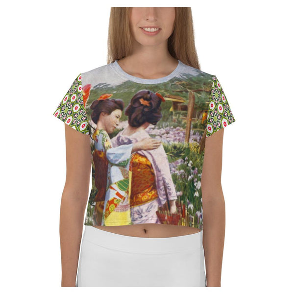 Kyoto Gardens AOP Crop Top - WhimzyTees