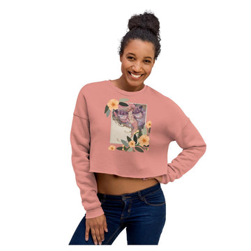 Adelia Butterfly Crop Sweatshirt