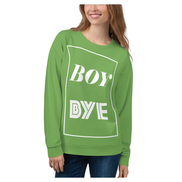 Boy BYE Sweatshirt (Apple), Sweatshirt- WhimzyTees