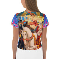 Lady Nanante AOP Crop Tee, Tee- WhimzyTees