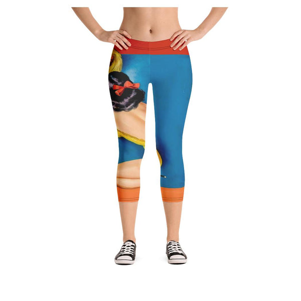 Kiss and Tell Capris, Leggings- WhimzyTees
