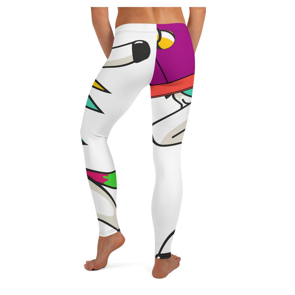 Flyboy Dab Unicorn (V2) Leggings, Leggings- WhimzyTees