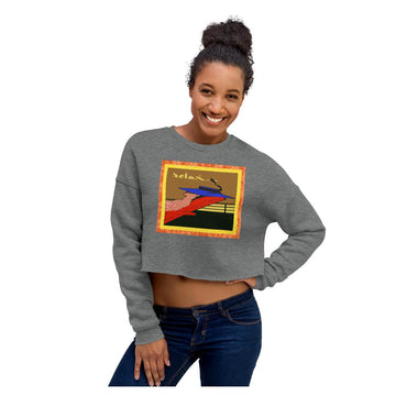 Relax Go To IT! Crop Sweatshirt