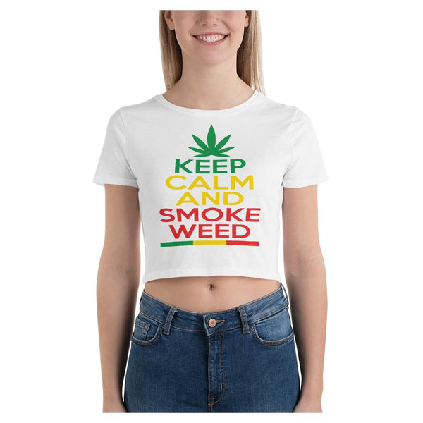 Keep Calm Crop Tee, Crop Top- WhimzyTees