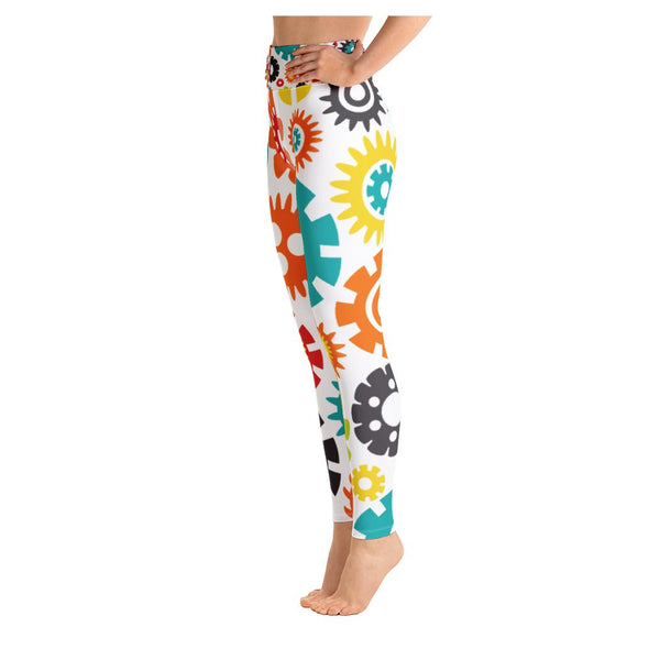 Robot Family Yoga Capris, Leggings- WhimzyTees