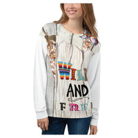 Wild and Free Sweatshirt, Sweatshirt- WhimzyTees