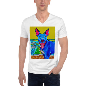 Seaside Pittie V-Neck T-Shirt