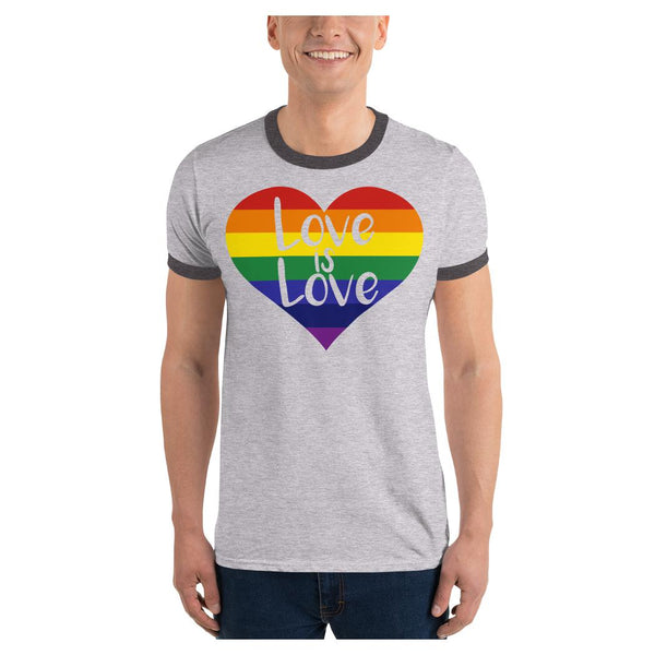 LOVE is LOVE Ringer Tee, Tee- WhimzyTees