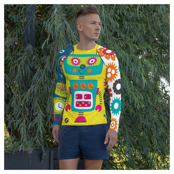 Clifford Robot Rash Guard, Rashguard- WhimzyTees