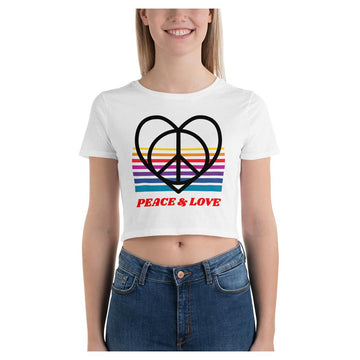 Peace & Love Crop Tee