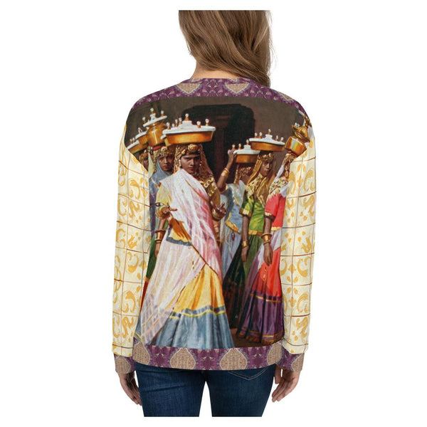Temple Dance Sweatshirt, Sweatshirt- WhimzyTees