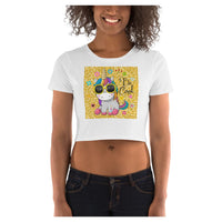 Be Cool Unicorn Crop Tee (Gold), Crop Top- WhimzyTees