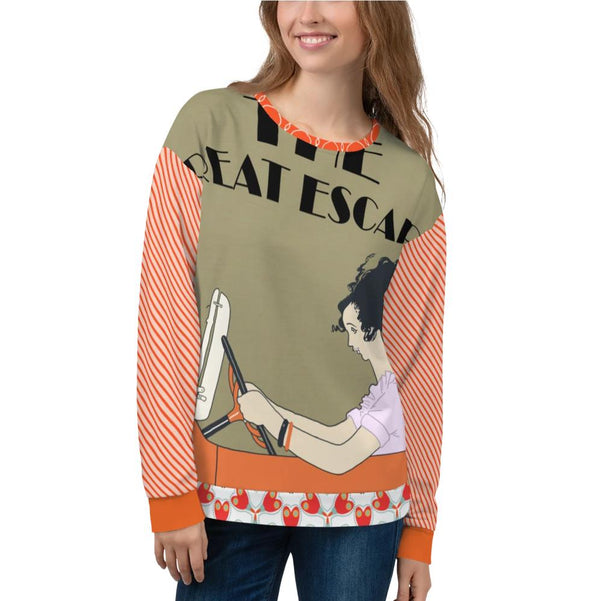 The Great Escape Sweatshirt, Sweatshirt- WhimzyTees
