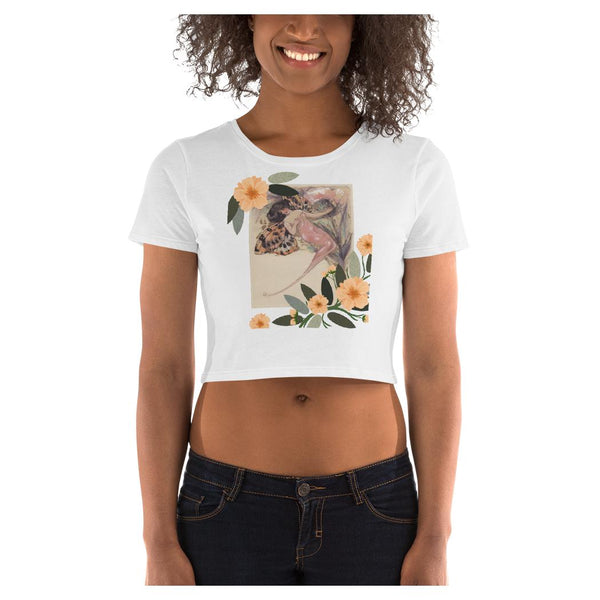 Sensibility Butterfly Crop Tee, Crop Top- WhimzyTees