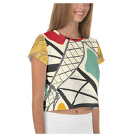 Paris Folies AOP Crop Top, Crop Top- WhimzyTees