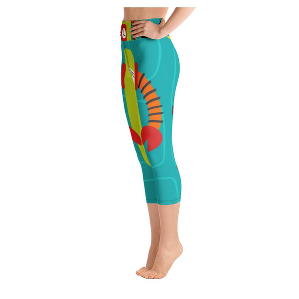 Maizie Robot Yoga Capris, Leggings- WhimzyTees