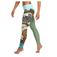 Clamshell Venus Leggings (V2), Leggings- WhimzyTees
