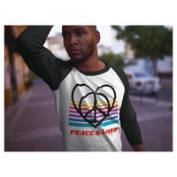 Peace & Love Baseball Tee - WhimzyTees