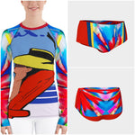 Relax Go To It! Rash Guard, Rashguard- WhimzyTees