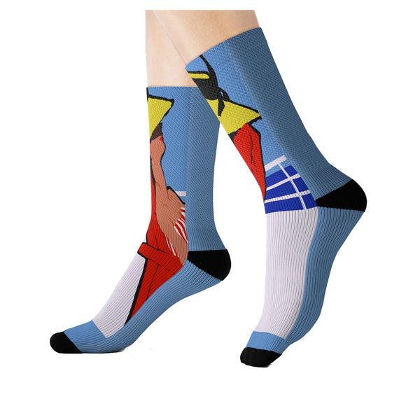Relax Go to IT! Socks (Blue), Socks- WhimzyTees