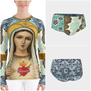 Sacred Heart Rash Guard