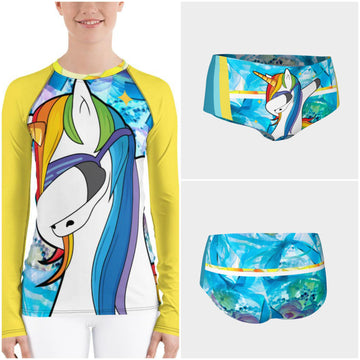 Starlight Dab Unicorn Rash Guard