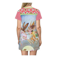 Summer Solstice T-shirt Dress, Dress- WhimzyTees