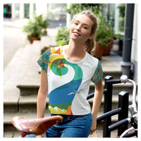 Swan Lake AOP Crop Top - WhimzyTees