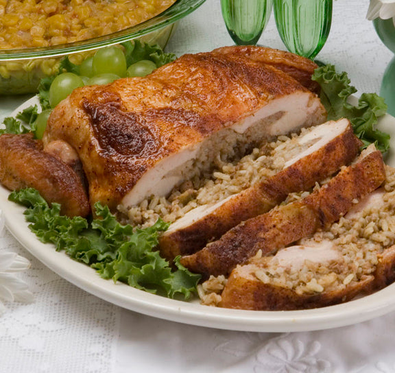 Stuffed Chicken with Rice Dressing - cajunspecialtymeats