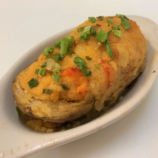 Baked Potato with Crawfish - cajunspecialtymeats