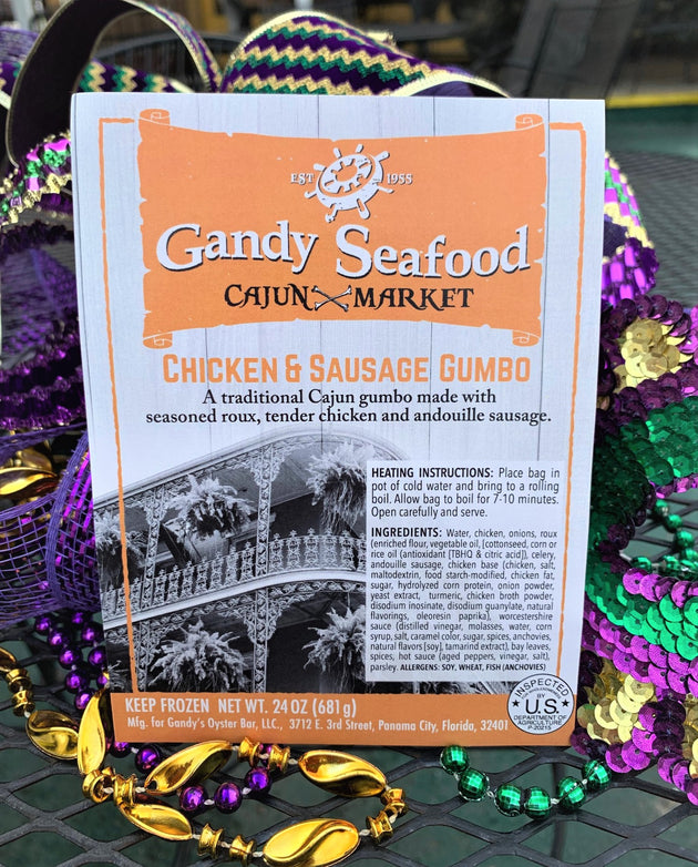 Gandy Seafood  Chicken & Sausage Gumbo  -  NEW ITEM #3614 - cajunspecialtymeats