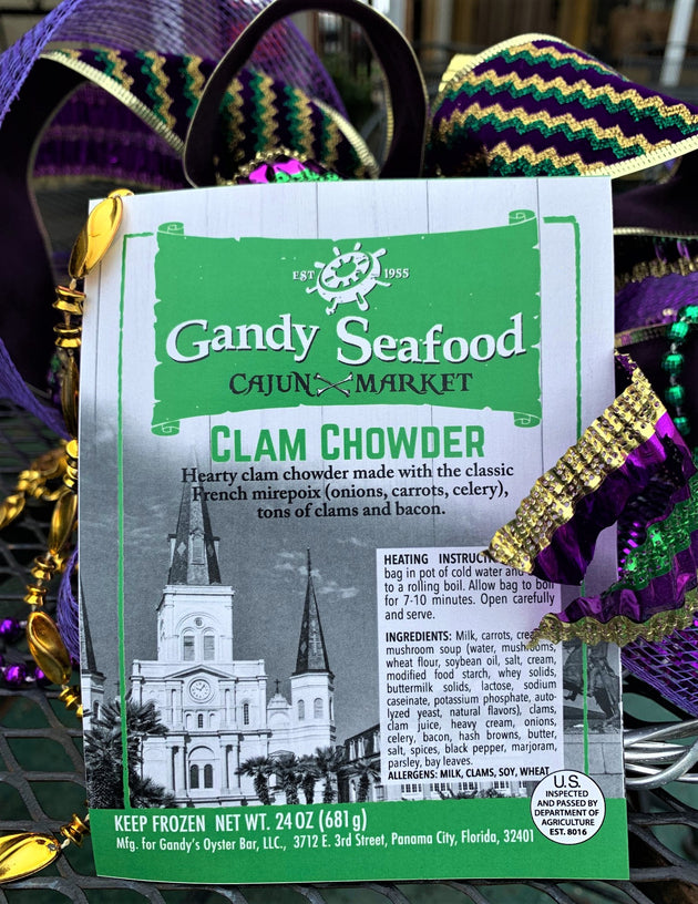 Gandy Seafood Clam Chowder  -  NEW ITEM! #3615 - cajunspecialtymeats