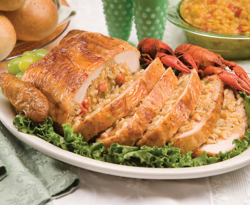 Stuffed Chicken with Crawfish Étouffée - cajunspecialtymeats