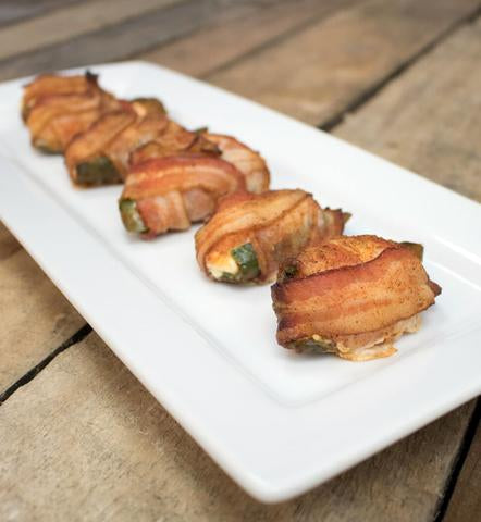 Family Sized Bacon Wrapped Jalapenos with Boudin Sausage - NEW ITEM!! - cajunspecialtymeats
