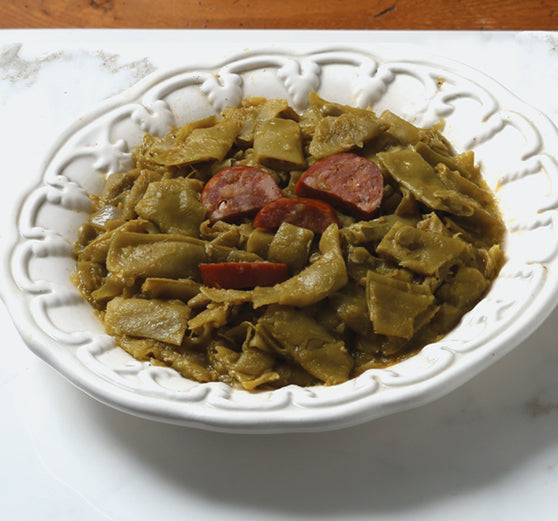 Marinated Green Beans with Andouille Sausage & Tasso - CajunSpecialtyMeats.com