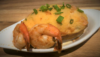 Baked Potato Stuffed with Shrimp - cajunspecialtymeats